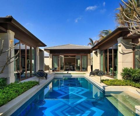 海棠湾一线海景别墅,海棠华著,离海50米,智能家居,4房,独立花园庭院、泳池、高端度假体验